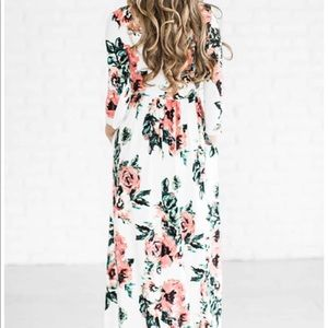2d4b22ef3 chic nico Dresses - Ecstatic Harmony White Floral Print Maxi Dress